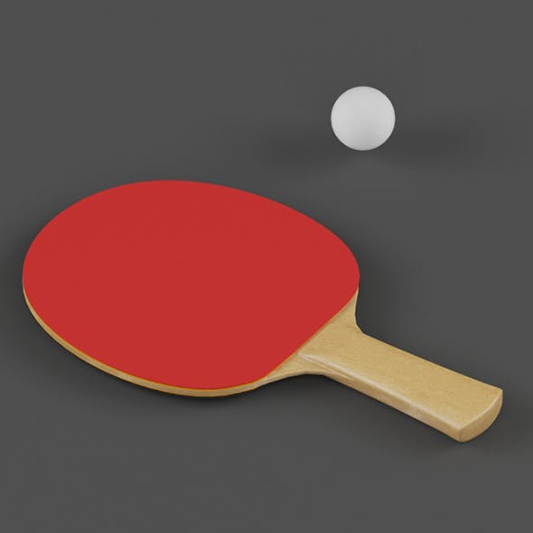 Vray Ready Table Tennis Paddle - 3DOcean Item for Sale
