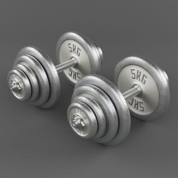 Vray Ready Dumbbells - 3DOcean Item for Sale
