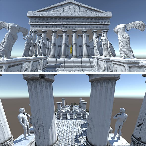 Ancient Greek City Pack I 33 GameReady Assets - 3DOcean Item for Sale