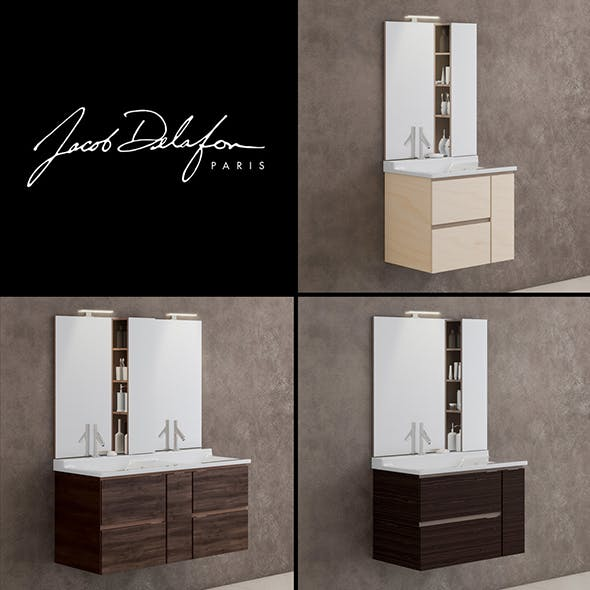 washbasin jacob delafon SOPRANO - 3DOcean Item for Sale