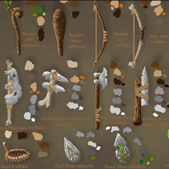 Craftable Tools Pack I Primitive