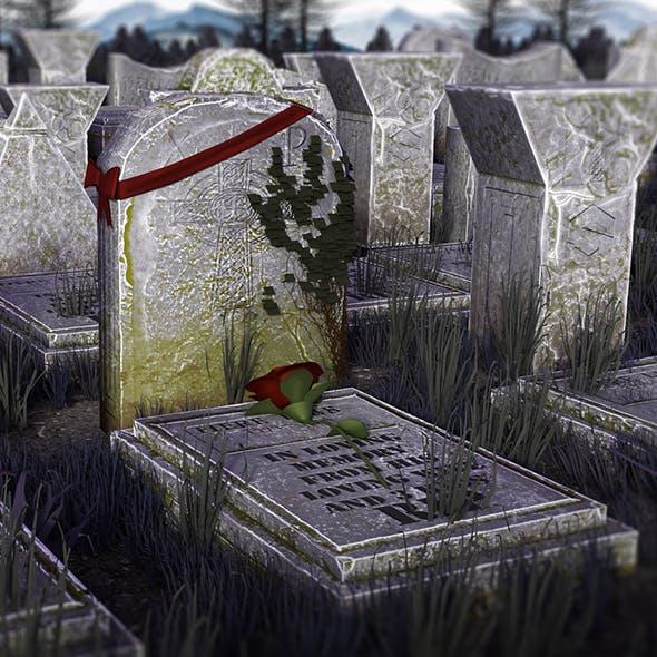 Graveyard Props Package I VR ready I Optimized I