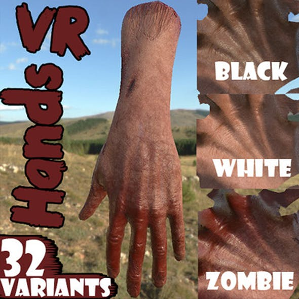 VR Hands I 32 VariationsI  I PBR I I Optimized I Low I - 3DOcean Item for Sale