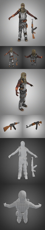 Terrorist (Somali Pirate) - 3DOcean Item for Sale