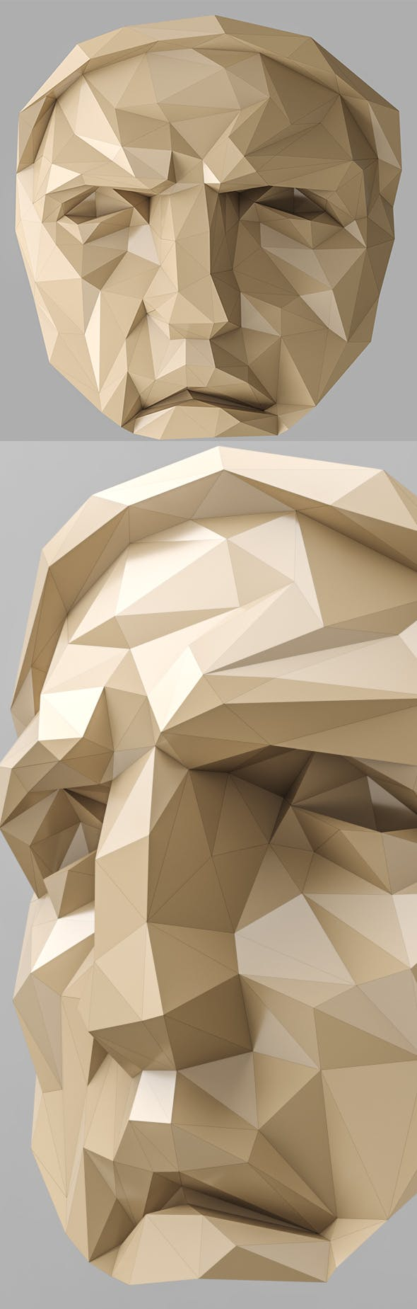 Lowpoly Face 001 - 3DOcean Item for Sale
