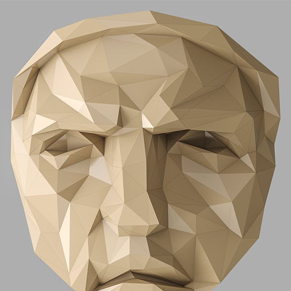 Lowpoly Face 001