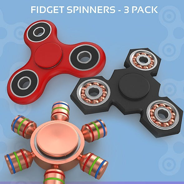 Fidget Spinners - 3 Pack
