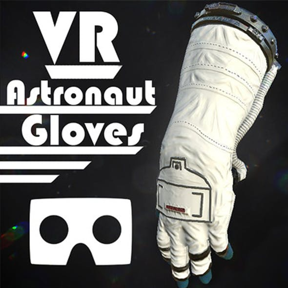 Astronaut VR Hands I Animated I Optimized I