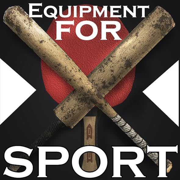 Sport Equipment I 19 Optimized models I - 3DOcean Item for Sale