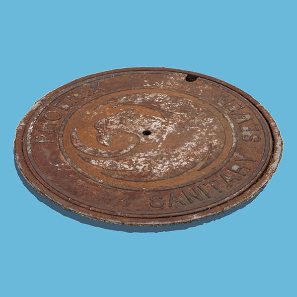 Sanitary Manhole Cover - 3DOcean Item for Sale