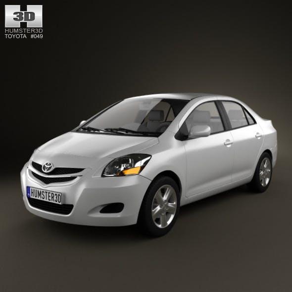 Toyota Yaris sedan (Vios, Belta) 2011 - 3DOcean Item for Sale