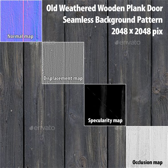 Plank Door Seamless