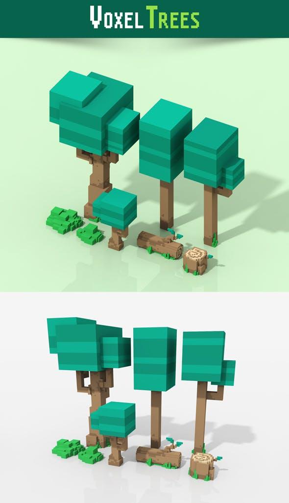 Voxel Trees - 3DOcean Item for Sale
