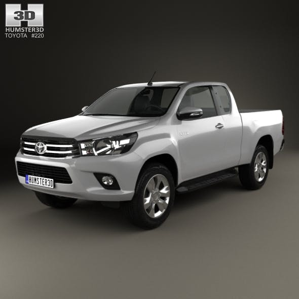 Toyota Hilux Extra Cab SR 2015 - 3DOcean Item for Sale