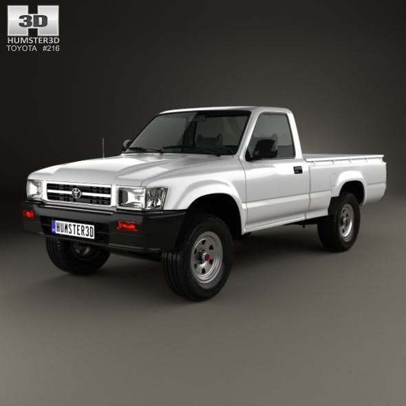 Toyota Hilux Double Cab 1988 - 3DOcean Item for Sale