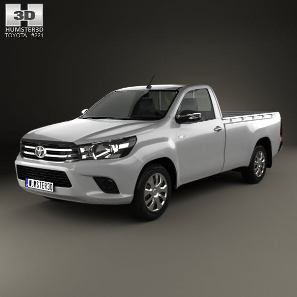 Toyota Hilux Single Cab SR 2015 - 3DOcean Item for Sale