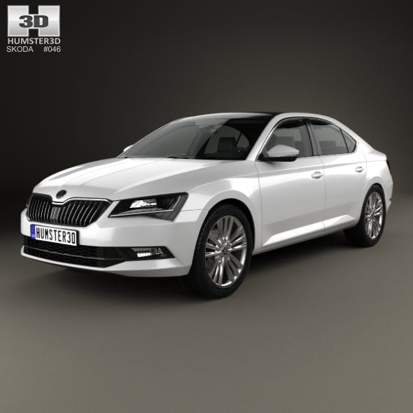 Skoda Superb liftback 2016 - 3DOcean Item for Sale