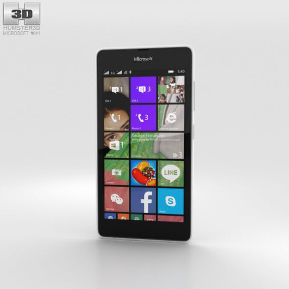 Microsoft Lumia 540 White - 3DOcean Item for Sale