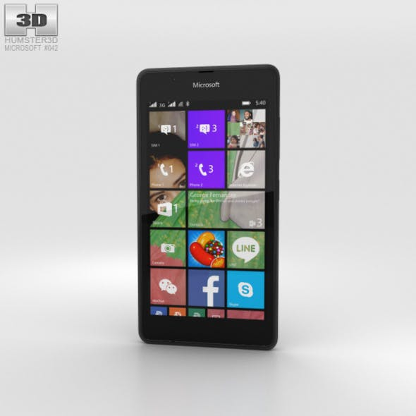Microsoft Lumia 540 Black - 3DOcean Item for Sale