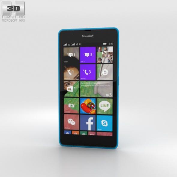 Microsoft Lumia 540 Blue - 3DOcean Item for Sale