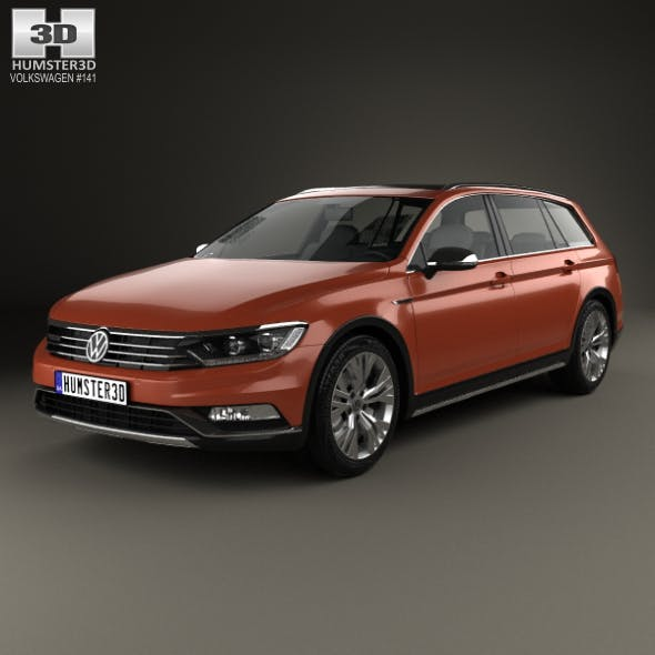 Volkswagen Passat (B8) Alltrack 2016 - 3DOcean Item for Sale