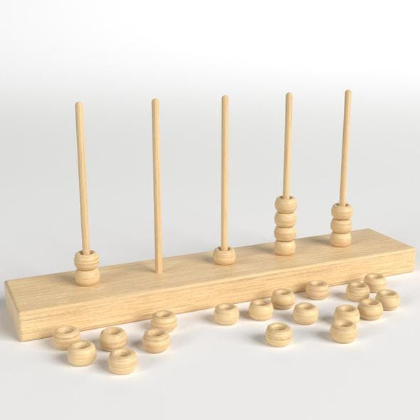 Vertical Abacus Toy - 3DOcean Item for Sale
