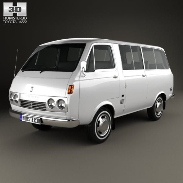 Toyota Hiace Passenger Van 1967 - 3DOcean Item for Sale