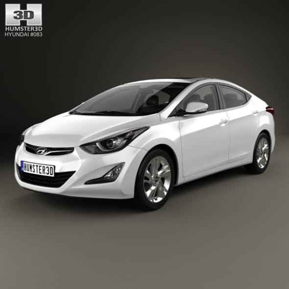 Hyundai Avante (MD) sedan with HQ interior 2014 - 3DOcean Item for Sale