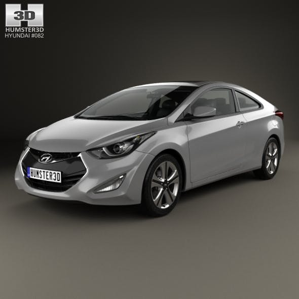 Hyundai Avante (JK) coupe with HQ interior 2014 - 3DOcean Item for Sale