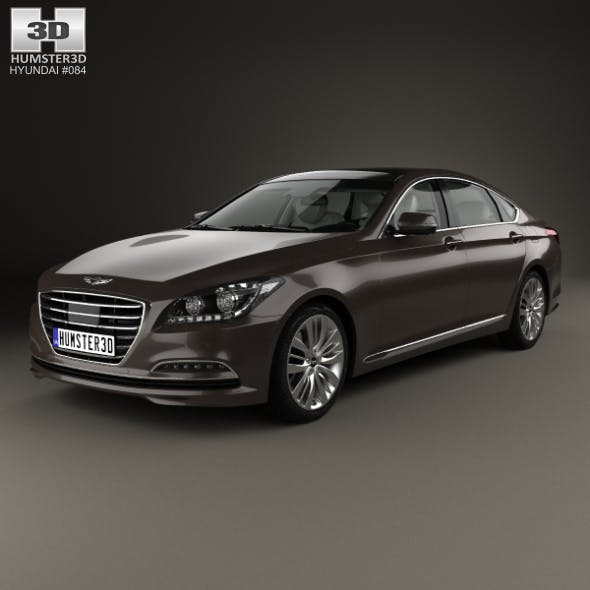 Hyundai Genesis (DH) with HQ interior 2014 - 3DOcean Item for Sale