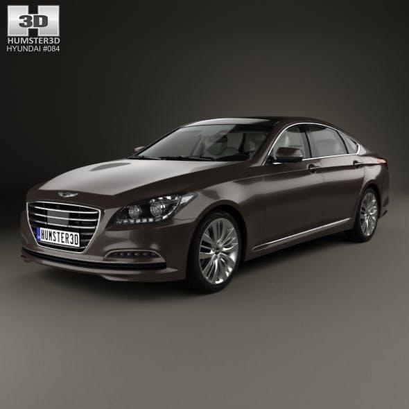 Hyundai Genesis (DH) with HQ interior 2014