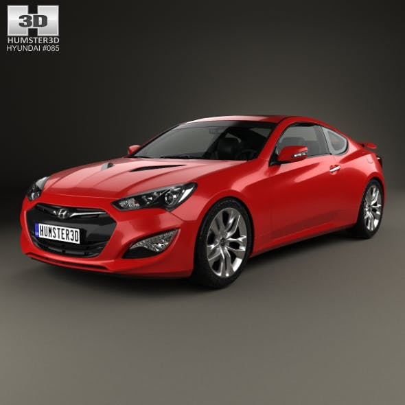 Hyundai Genesis coupe with HQ interior 2014 - 3DOcean Item for Sale