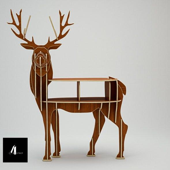 3D deer shelf