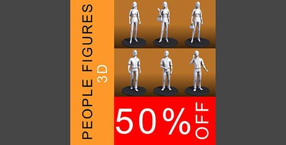 People Figures - 3DOcean Item for Sale