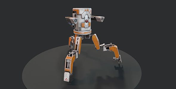 Three legged mech robot - 3DOcean Item for Sale