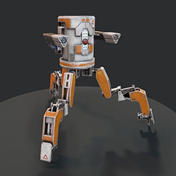 Three legged mech robot