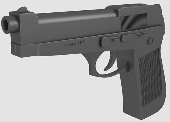 Gun Beretta USA - 3DOcean Item for Sale