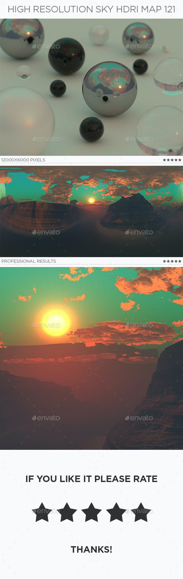 High Resolution Sky HDRi Map 121 - 3DOcean Item for Sale