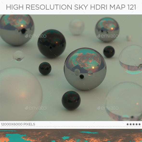 High Resolution Sky HDRi Map 121