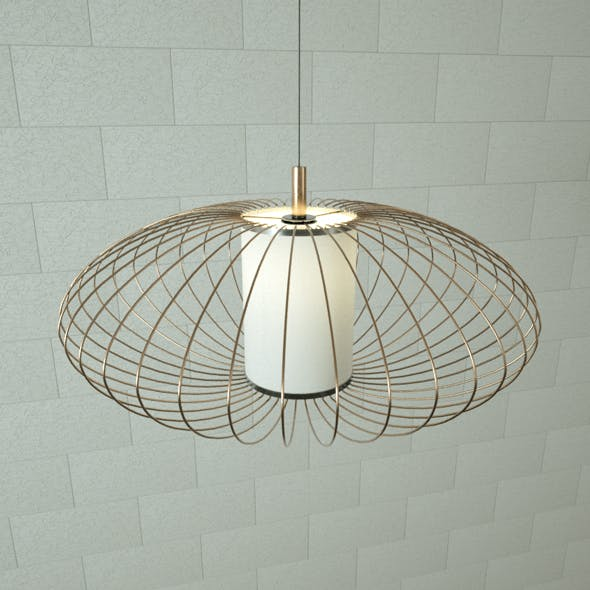 Cage Pendant Lamp - 3DOcean Item for Sale