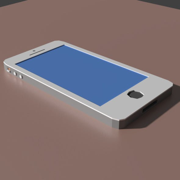 Low Poly iPhone Model