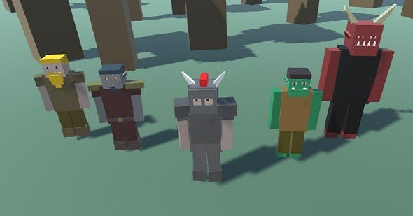Blocky Custom Characters (Minecraft Style) - 3DOcean Item for Sale