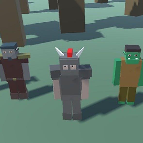 Blocky Custom Characters (Minecraft Style)