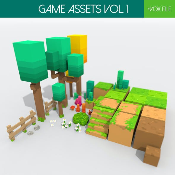 Game Assets Vol 1 - Voxel Art