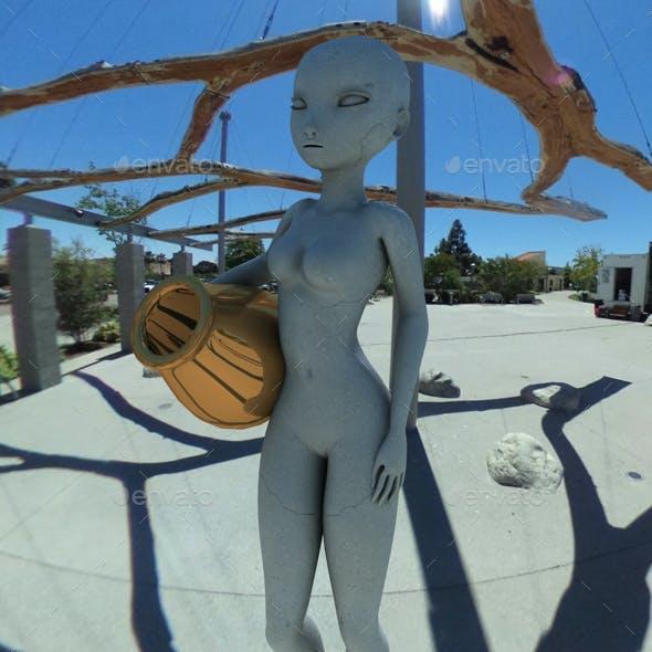 Blue Sky Wooden Sculpture HDRI