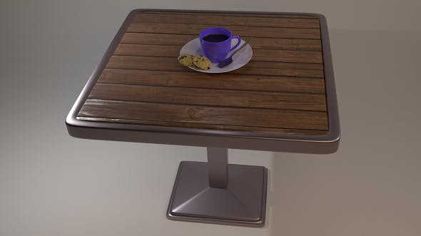 Tea Cup Table - 3DOcean Item for Sale