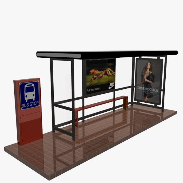 Bus Stop Shelter 02