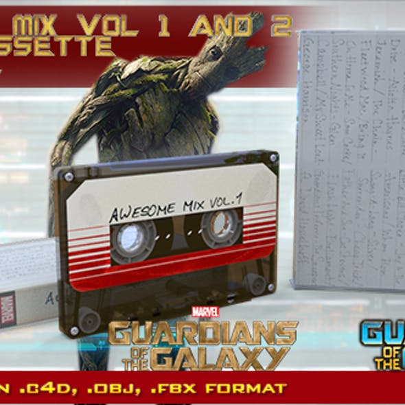 Guardians of the Galaxy Awesome Mix Audio Cassette
