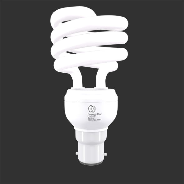 Energy Saving Light Bulb 01 - 3DOcean Item for Sale
