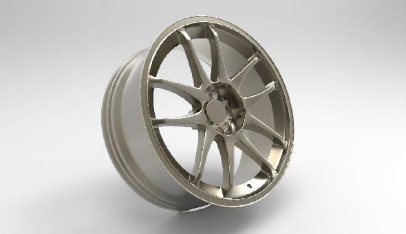 Sports Car Wheel Rim -TENZO DC5 - 3DOcean Item for Sale